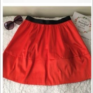 H and M Conscious Collection Orange Dressy Skirt